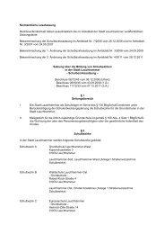 Schulbezirke - Satzung - Stadt Lauchhammer