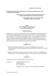 Satzung über die Bildung von Schulbezirken in der