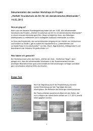 Dokumentation des Zwischenworkshops - FiPP e.V.