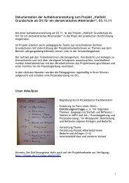 Dokumentation der Auftaktveranstaltung zum Projekt ... - FiPP e.V.