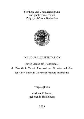 Synthese und Charakterisierung von photovernetzbaren Polystyrol ...