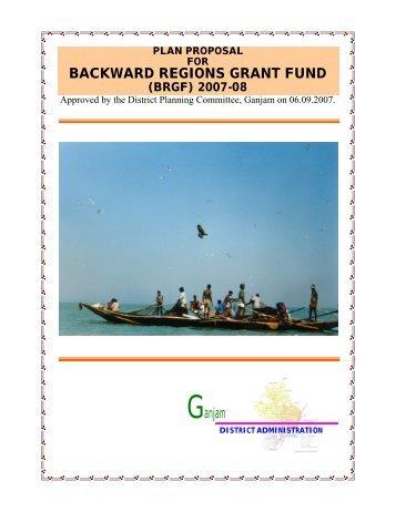 plan proposal for backward regions grant fund (brgf - Ganjam District