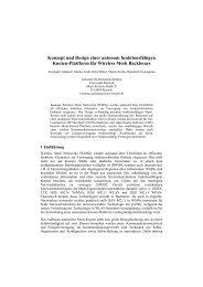 Konzept und Design einer autonom funktionsfähigen Knoten-Plattform