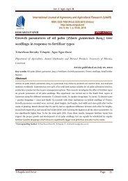 Growth parameters of oil palm (Elaeis guineensis Jacq.) tree seedlings in response to fertilizer types