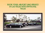 Book Your Airport Limo Service in Las Vegas with MWTravel Vegas