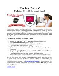 What is the Process of Updating Trend Micro Antivirus?