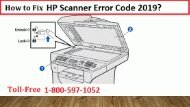 1-800-597-1052 Fix HP Scanner Error Code 2019