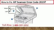 1-800-597-1052 Fix HP Scanner Error Code 2019