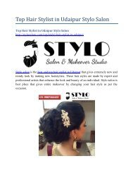 Top Hair Stylist in Udaipur Stylo Salon