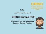 Best CRISC Dumps, Pass IT Exam quickly | www.dumps4download.com