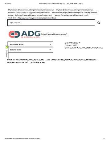 Buy Cytotam 20 mg _ AllDayGeneric.com - My Online Generic Store