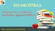 810-440 DTBAA exam dumps