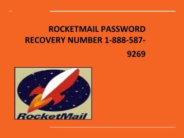 Rocketmail password Reset Number 1-888-587-9269 | Recovery