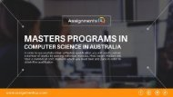 6 Reputed universities in Australia for Masters Programs in Computer Science