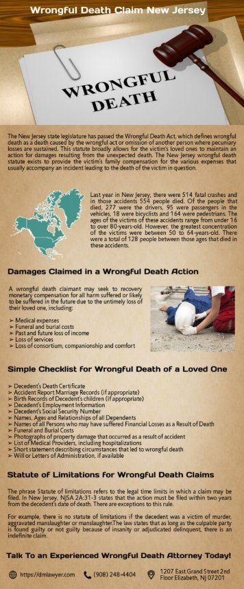 Wrongful Death Claims New Jersey