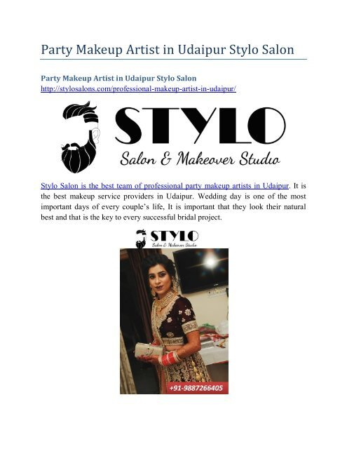 Party Makeup Artist in Udaipur Stylo Salon