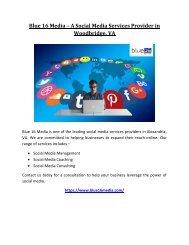 Blue 16 Media – A Social Media Services Provider in Woodbridge, VA
