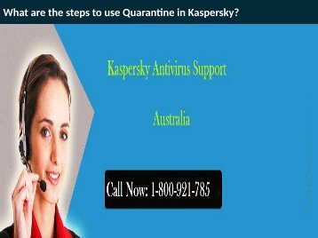What are the steps to use Quarantine in Kaspersky