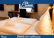 Imagebroschüre Hotel die Tanne in Goslar Harz