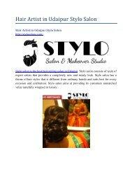 Hair Artist in Udaipur Stylo Salon