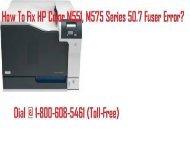 1-800-608-5461 Fix HP Color M551, M575 Series 50.7 Fuser Error
