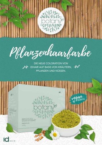 Hairpoint Botany Produktbroschüre A4 hoch 2018
