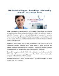 AVG Technical Support Team Helps In Removing antivirus Installation Error