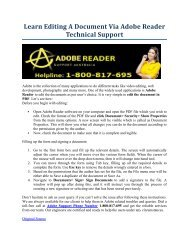Learn Editing A Document Via Adobe Reader Technical Support