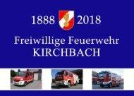 Chronik 130 Jahre Feuerwehr Kirchbach