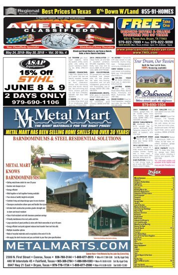 American Classifieds/Thrifty Nickel  May 24th Edition Bryan/College Station