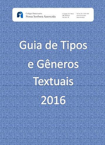 Guia de Gêneros e Tipos textuais