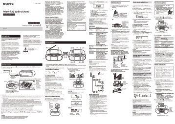 Sony CFD-S70 - CFD-S70 Istruzioni per l'uso Lettone