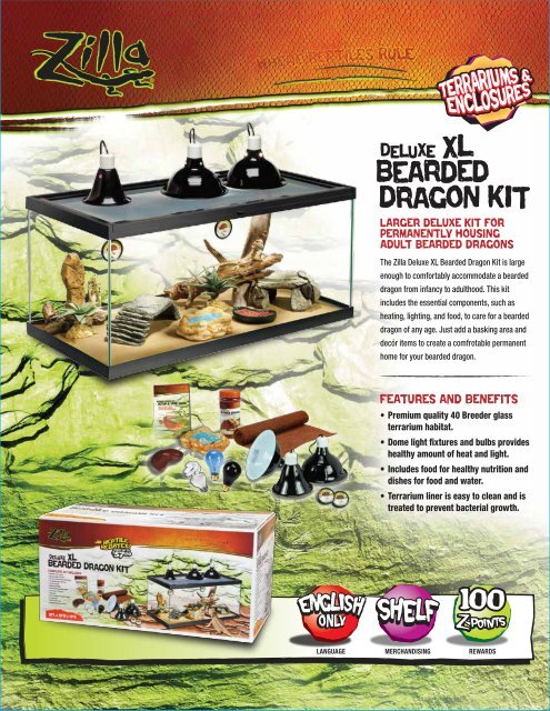 Deluxe XL Bearded Dragon Kit SS - Zilla-Rules.com!