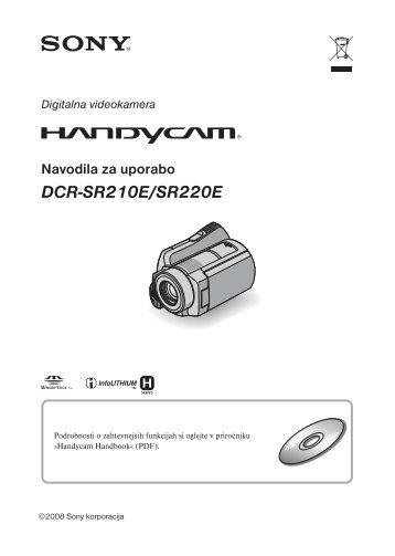 Sony DCR-SR210E - DCR-SR210E Mode d'emploi Slovénien