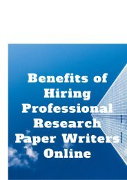 Benefits of Hiring Professional Research Paper Writers Online