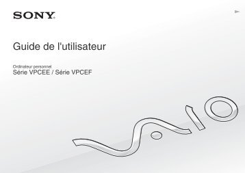 Sony VPCEF2E1R - VPCEF2E1R Mode d'emploi