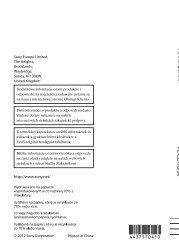 Sony DCR-PJ6E - DCR-PJ6E Consignes d'utilisation Polonais