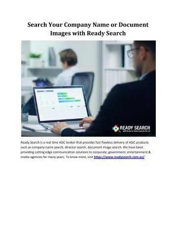 Search Your Company Name or Document Images with Ready Search