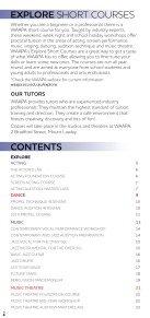 EXPLORE Short Courses 20182019 eCopy - Page 2