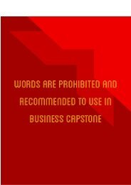 Words are Prohibited and Recommended to Use in Business Capstone