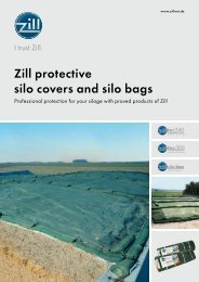 Zill protective silo covers and silo bags - Zill GmbH & Co. KG