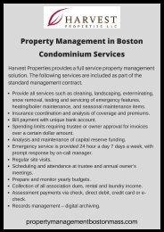 Best Condominium Services in Boston - Harvest Properties