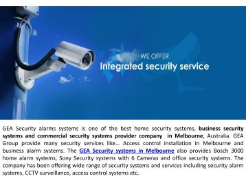 GEA Security Systems in Melbourne
