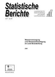 Wasserversorgung und Abwasserbeseitigung im ... - Brandenburg.de