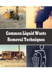 Common Liquid Waste Removal Techniques