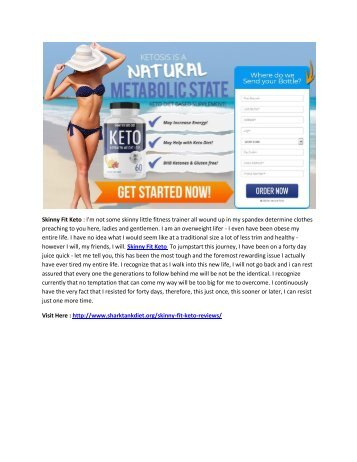 Get Rid Of Excess Body Fat with Skinny Fit Keto