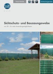 Sichtschutz- und Bauzaungewebe - Zill GmbH & Co. KG