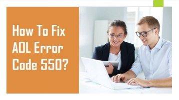 1-800-488-5392 Fix AOL Error Code 550