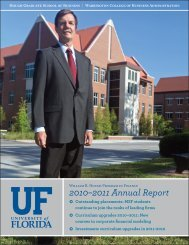 2010–2011 Annual Report - Warrington College of Business ...