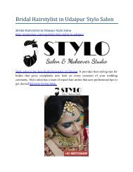 Bridal Hairstylist in Udaipur Stylo Salon